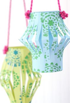 Add these cute paper lanterns to your party supply list! They are a great DIY to spruce up any celebration!