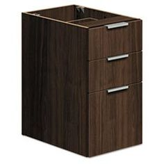 * Voi Box/Box/File Support Pedestal, 16w x 20d x 28-1/2h, Columbian Walnut  #MotivationUSA #Home