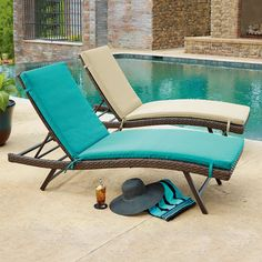 Member's Mark 2 pk Chaise Lounge Cushions in Assorted Colors - Sam's Club