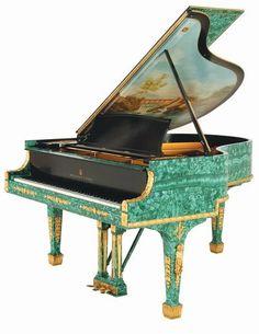 Steinway Baby Grand Piano of Russian Malachite Lot 160 View Catalog