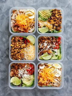 How To Eat Salad Everyday & LIKE IT! Just add your favorite proteins - get the recipes at barefeetinthekitchen.com