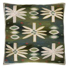 "Barbro Nilsson Textile Throw Pillow ""Water Lillies"" Näckrosorna"