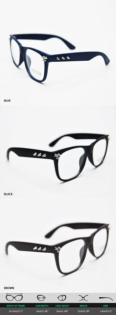 Mens Funky Pointy Metal Stud Accent Color Glasses By Guylook.com