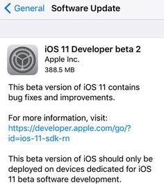 Il nuovo aggiornamento presenta nuovi bug e mette in evidenza alcuni problemi noti, come la presenza della notifica SOS che esce anche quando un avviso viene annullato; la seconda beta di iOS 11, quindi, non è ancora una beta stabile e dovrebbe essere installata solo su dispositivi...