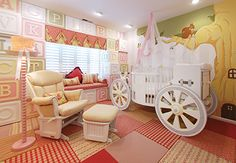 A carriage crib fit for any princess.