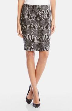 340537383307 Karen Kane Snakeskin Print Knit Pencil Skirt Jupe Étroite En Tricot
