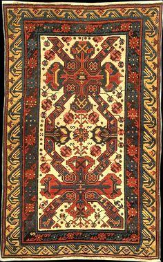 Zeichur rug, 1900s, Northern Kuba Region, Azerbaijan