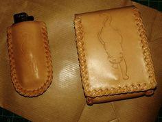 Leather box cigarrette