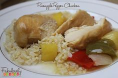 Pineapple Pepper Chicken Recipe. Easy to make in the crock pot. Great for a make ahead meal or freezer meal! http://fabulesslyfrugal.com/?p=131411