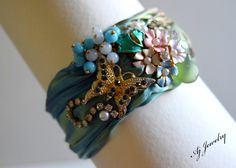 Hey, I found this really awesome Etsy listing at https://www.etsy.com/listing/227164670/shibori-silk-bracelet-fluttering-moments