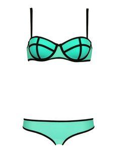ACEFAST INC Womens Bandage Dress Arrival Beachwear Pushup Bikini Set Swimsuit Swimwear S US XS Green >>> You can find more details by visiting the image link. (This is an affiliate link) Green Bikini, Bikini Set, Push Up, Sunset Bikini, Color Block Bikini, Bright, Triangle Bikini, Women Swimsuits, Bathing Suits