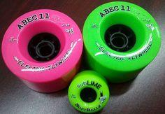Longboard Wheels ABEC 11 Reflex Centrax Pink 77A 83mm Longboard Rollen Set 4 Rollen