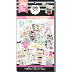 These stickers make it easy for you to customize your Happy Planner, making everyday routines even more fun Designed to fit in the daily column of your weekly view in the classic Happy Planner, these watercolor-themed stickers will help you plan and give you a boost of confidence along the way.