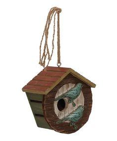 Look what I found on #zulily! Wood Hanging Birdhouse #zulilyfinds