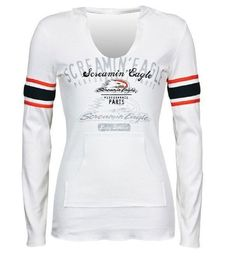 Amazon.com: Harley-Davidson® Women's Screamin' Eagle Striped Sleeve Hooded Long Sleeve Shirt. HARLLT0119: Clothing