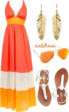 """""""Maxi Dress Simple Summer Outfit"""" by natihasi on Polyvore"""