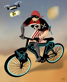 My special biking space pirate :)