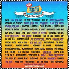 Vans Warped Tour Announces it s Final Line-Up  7c30f3570