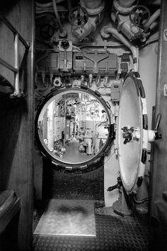 U-Boats ~ U-Boat U-995 ~ German Type VIIC submarine U-Boot Druckschott - Pressure Bulkhead Behind the Central ~ BFD
