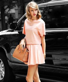 Taylor Swift's One-Step Tip For Everyday Elegance #refinery29  http://www.refinery29.com/2014/08/72672/taylor-swift-matching-sets
