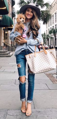 street style: rips + knits