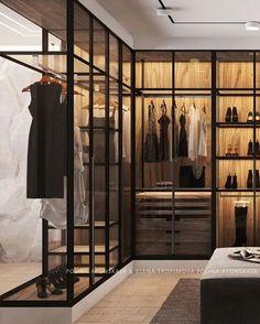 Stylish Elegant Wardrobe Design Ideas For Your Small Bedroom Source by vivicaaaaa room design Wardrobe Room, Wardrobe Design Bedroom, Closet Bedroom, Glass Wardrobe, Small Bedroom With Wardrobe, Master Bedroom, Walk In Closet Design, Closet Designs, Modern Closet