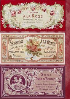 Imprimolandia: Envoltorio vintage para jabones