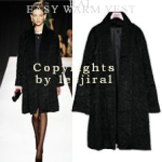 Black Textured Coat