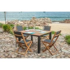 249.99 € ❤ Top #Soldes #ARCACHON Ensemble #table de #jardin 6 ...