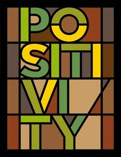 POSITIVITY - STAINED GLASS » Tipografia - Urban Arts (papel matte, 36 x 47,5 - preta lisa) - R$ 228