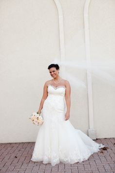 Joy in her custom Anjolique Bridal dress.   photography by ElizabethAnn Photo