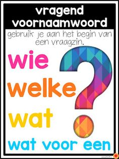Juf-Stuff: Posters word types - Back to School Learn Dutch, Learn English, Dutch Language, School Tool, School Posters, Learning Quotes, Expressions, Kids Education, Grammar