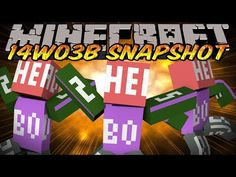 Minecraft Snapshot 14w03b (Minecraft 1.8) - CLONE & FILL COMMANDS, LAYERED SKINS & MORE!