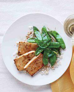 Broiled Tofu and Snow Peas Recipe