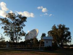 The little #Australian Scenic Public Toilet perched on the edge of the Universe!  #Australia Telescope Compact Array via #Narrabri, New South Wales!
