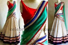 Benaras Self Work Half Saree | Saree Blouse Patterns