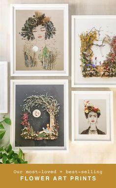 Painting Inspiration, Art Inspo, Pressed Flower Art, Better Homes, Drawing, Flower Crafts, Sculpture, Diy Art, Garden Art