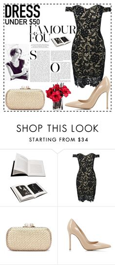 """""""Little black dress"""" by loveralucutza ❤ liked on Polyvore featuring Browns, WithChic, Gianvito Rossi and Dressunder50"""