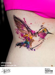 My love of hummingbirds continues.  Artist: Olivia Wong, Tattoo Temple, Hong Kong.  Via: Tattrx.