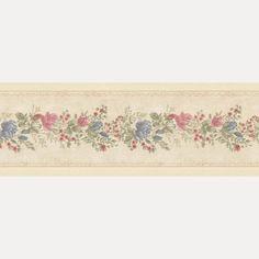 Vintage Rose englische Landhaus Satin Bordüren Blumen Art.-Nr.: B07573