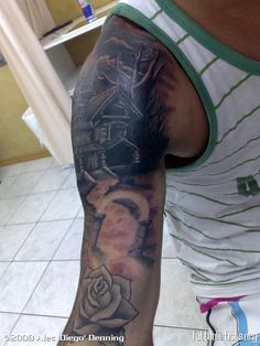 Haunted House Tattoo Designs Haunted house
