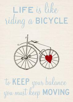 Bike Love Stretched Canvas
