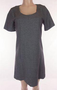 THEORY Dress Size 10 M Medium Heathered Gray Weave Sheath Wear To Work Career #Theory #Sheath #WeartoWork