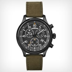 Timex: Expedition® Field Chronograph Vintage military-inspired styling with chronograph functionality.