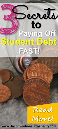 Check out these 3 secrets about how to pay off your student loan debt as fast as possible! Forget student loan forgiveness - these three secrets to paying off your student loans will help you live the life you deserve to live!