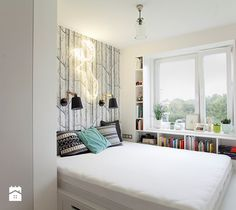 Mała sypialnia małżeńska, styl eklektyczny - zdjęcie od Boho Studio