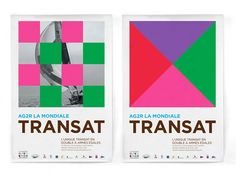 Transat AG2R  by THOMAS on November 1, 2011 • 1:47 p.m. A comment  AG2R La Mondiale is an insurance group very active in sports sponsoring a cycling team with two loungers and sailing. At the last edition of 2010, the Dutch Studio Dumbar designed a graphic system rather remarkable.    Inspired by the code Popham, signs via maritime flags, graphic Rejane Dal Bello and Danny Kreeft has managed to combine black and white photographs and colorful flags to develop posters and 4 × 3. Ads that…
