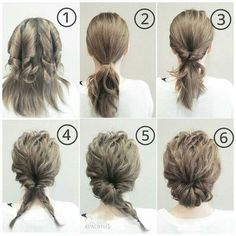 14 Stylish Easy Hairstyles Step By Step DIY Are you feeling bored with your regular look? That is quite normal when you have been wearing the same hairstyle for a long time. But, we all know that changing your hairstyle is difficult. It is quit Work Hairstyles, Pretty Hairstyles, Wedding Hairstyles, Beehive Hairstyles, Layered Hairstyles, Bouffant Hairstyles, Graduation Hairstyles, Asymmetrical Hairstyles, Simple Hairstyles