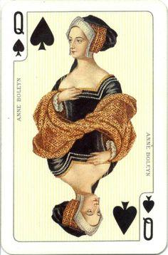 Anne Boleyn as Queen of Spades