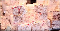 Medieval parade and fair of very delicious Italian dessert torrone